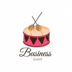 Drum Sound Sweet Bakery Pictorial Logo