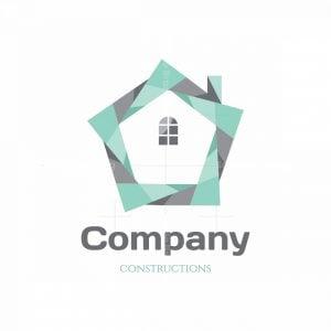 Star Home Construction Symbol Logo