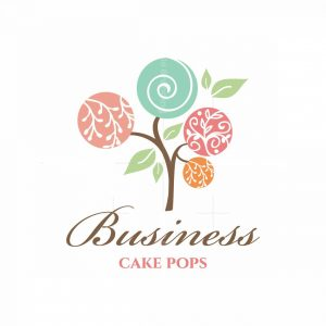 Sweet Tree Cake Pops Floral Logo