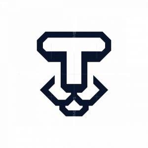 Minimalist T Lion Logo