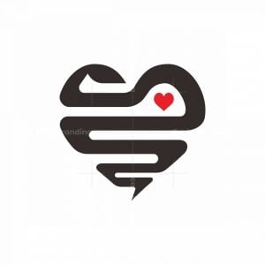 The Lovely Snake In Love Logo