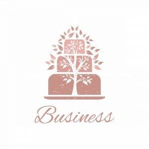 Tree Cake Pink Bakery Pictorial Logo