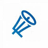 Trident Megaphone Logo Marketing Logo