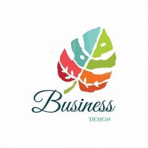 Tropical Leaf Symbol Logo