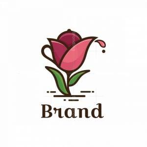 Tulip Tea Pot Symbol Logo