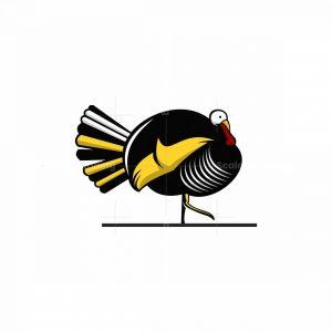 Turkey Mascot Icon Logo