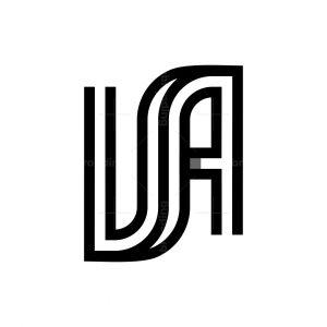 Modern Va Ua Usa Logo