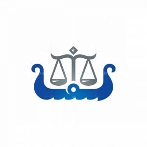 Viking Ship Law Logo Scale Of Justice Logo