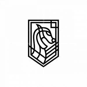 Viking Ship Dragon Head Icon Logo