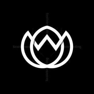 Modern W Lotus / Flower Logo
