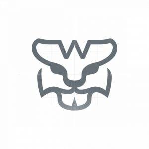 Letter W Tiger Logo Tiger Head Logo