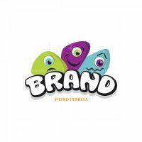 Weird Pebbles Mascot Symbol Logo