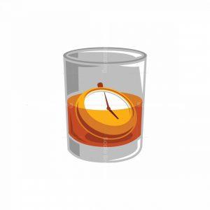 Whiskey O'clock Icon Logo