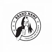 Woman Drinking Logo