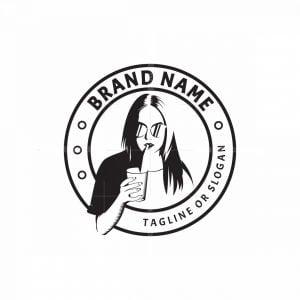 Woman Drinking Logo