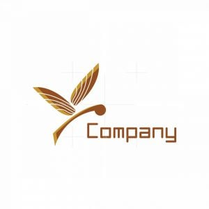 Twig Butterfly Logo