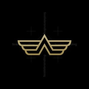 Wings Letter A Logo