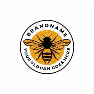 Classic Bee Honey Logo