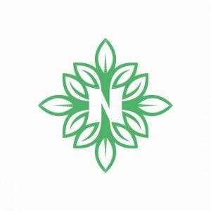 Leter N Leaf Logo