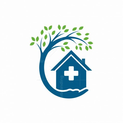 Home Tree With Hand Logo