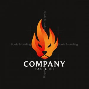 Lion Flame Logo