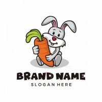 Rabbit And Carrot Logo
