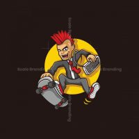 Punk Business Mascot Logo