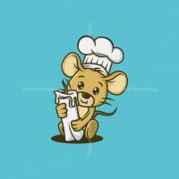Chef Mouse Mascot Logo