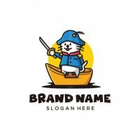 Cute Pirate Cat Logo