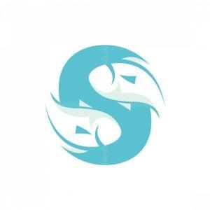S Letter Of Fish Logo