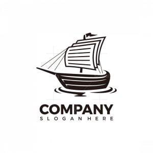Sailing Paper Boat Logo