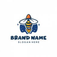 Flying Rocket Bee Logo