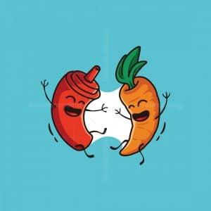 Ketchup And Carrot Logo