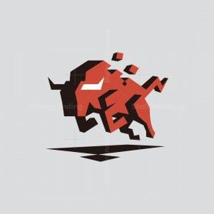 Bull Pixel Logo