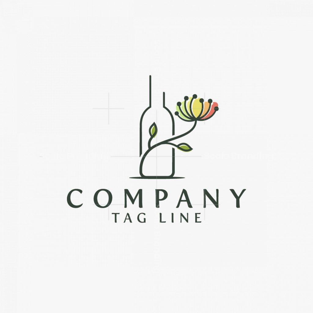 Bottle Flower Logo