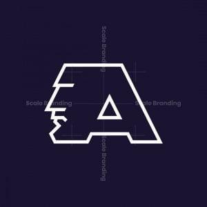 Face Letter A Logo