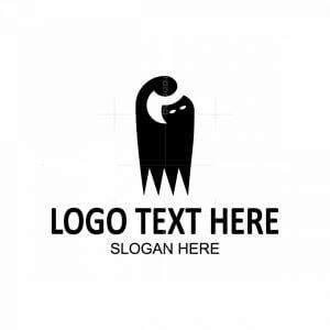 Black Cat Letter G Logo