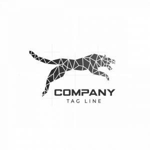 Geometric Panther Logo