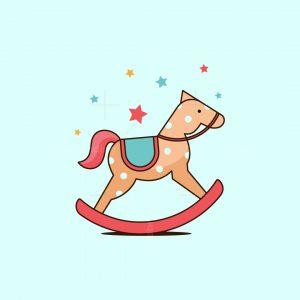 Cute Horse Toy Logo