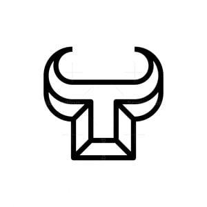 3d Bull Horn Logo