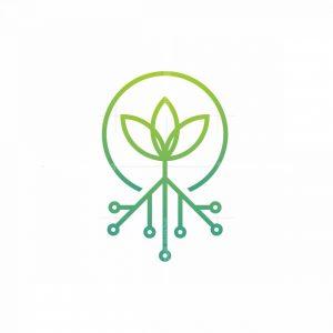 Tech Flower Logo