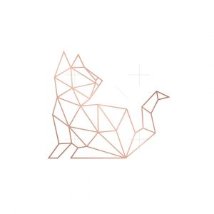 Geometric Cat Logo