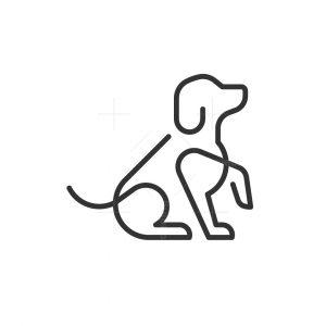 Minimalist Dog Logo