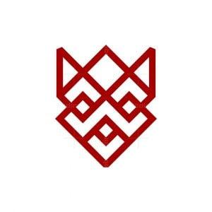 Abstract Geometry Fox Logo