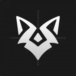 Abstract Wolf Head Logo