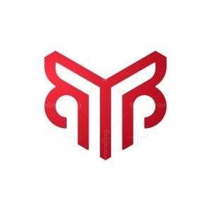 Aggressive Letter M Monogram Logo