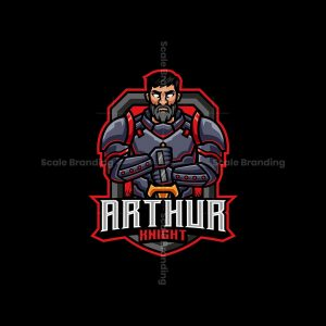 Arthur Knight Mascot Logo