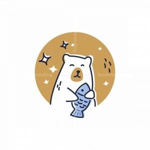 Bear And Fish Logo