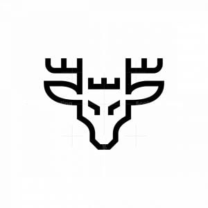 Black Head Deer Logo