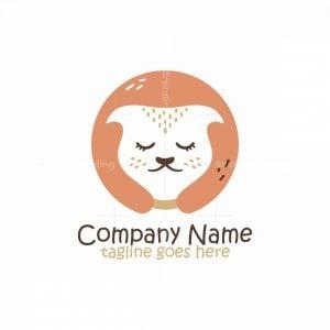 Cute Female Cat Logo